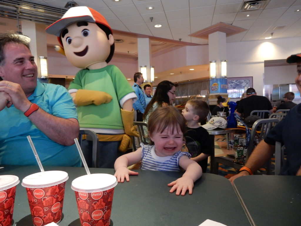 How to deal with children being scared of the characters because we had many character meals left in the schedule and many other character meet and greets that my son wanted to partake in i had to come up with a kristyandbryce Images
