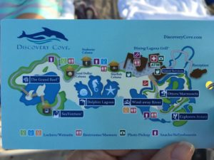 Discovery Cove Map on