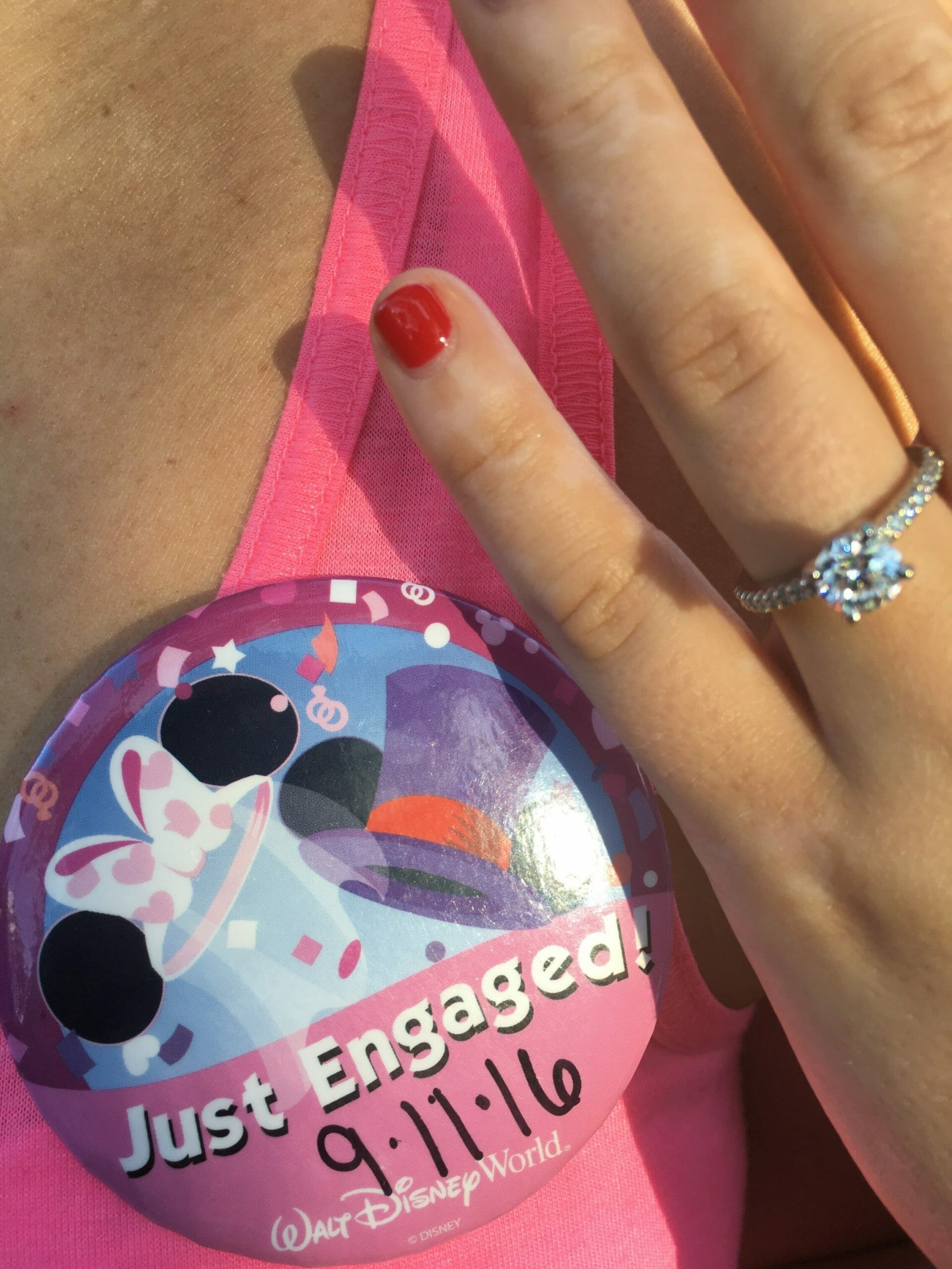 The First Magic Step To A Lifetime Of Happiness A Disney Engagement
