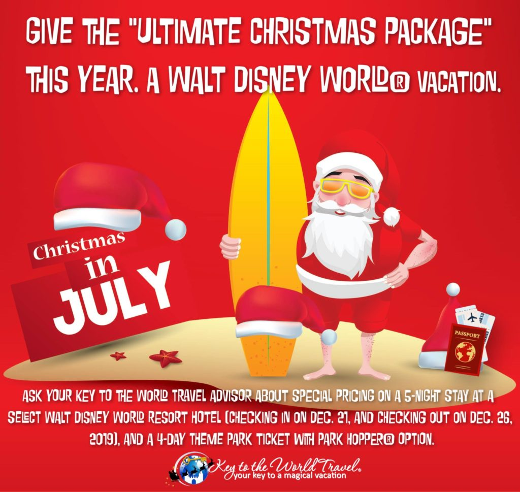 Christmas In July Disney World.Ultimate Disney Christmas Package 2019 Key To The World
