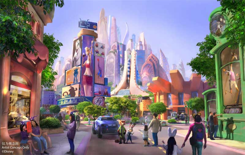 Shanghai Disney Resort Announced  Construction Has Started on Zootopia Land