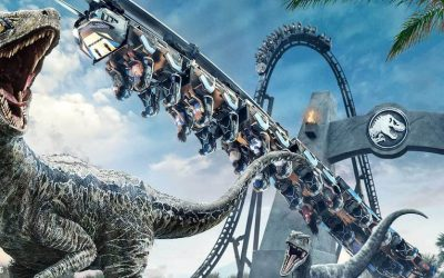 The all-new VelociCoaster is opening June 10th at Universal Orlando Resort